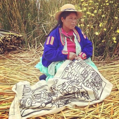 งานผ้าปักของชาวอูรอส CR พี่กั้ง