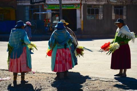 หญิงโบลีเวีย ขายดอกไม้สด CR พี่ปุ๊