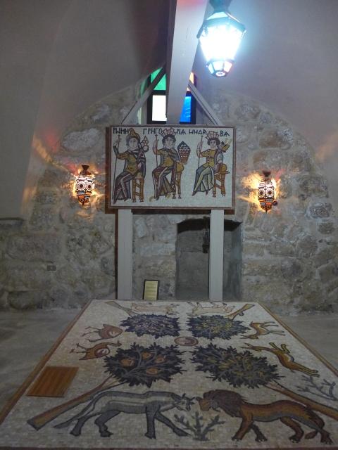 ภาพจำลองโมเสคแบบเต็มรูปแบบในขนาดย่อ St. John Church, Madaba